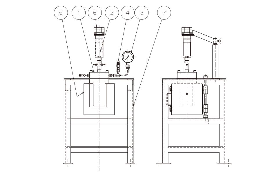 誘導撹拌式AC(開閉炉式)図