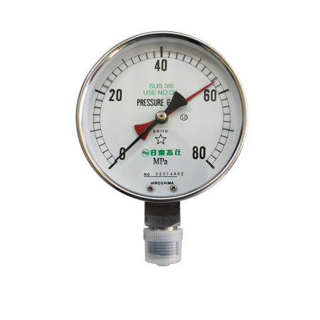 ブルドン管圧力計